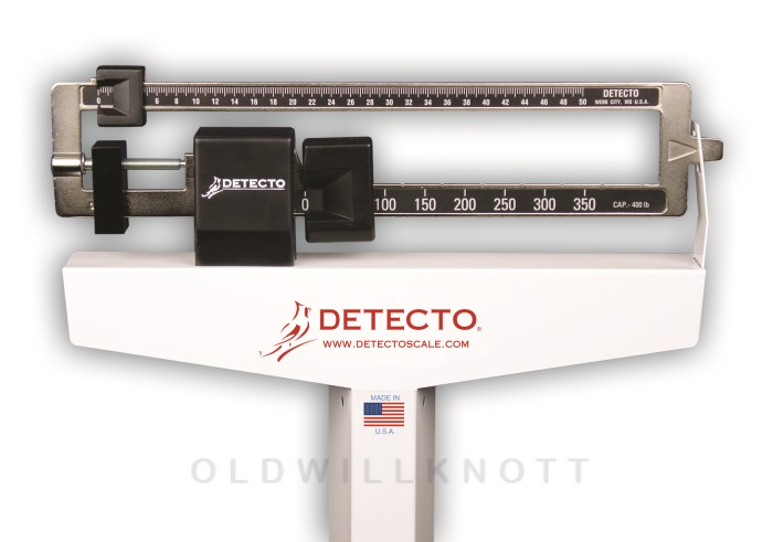 Detecto 2381 Eye Level Beam Scale With Wheels And Height Rod